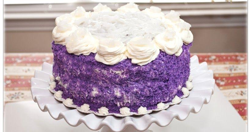 Ube Macapuno Cake, Purple Yam Cake, Cake Recipes, Filipino