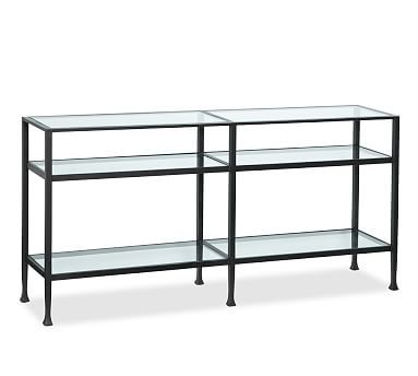 Tanner Metal Gl Long Console Table Matte Iron Bronze Finish