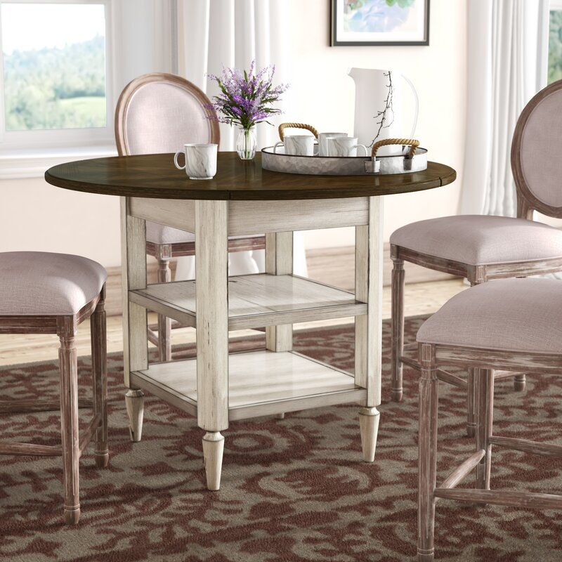 Baleine drop leaf dining table dining table counter