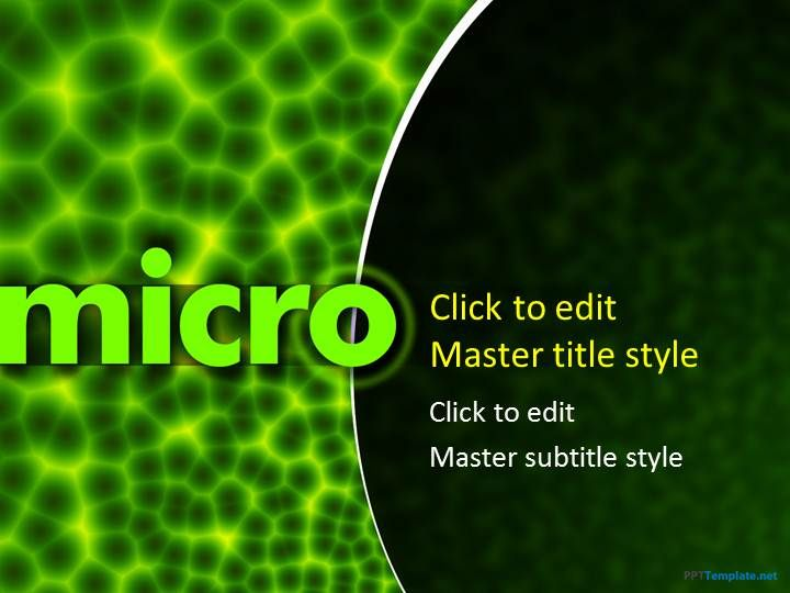 Free Microbiology Ppt Template  Micro    Microbiology