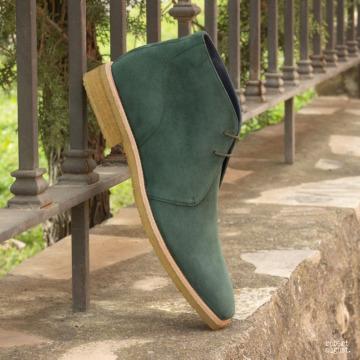 Custom Made Men's Chukka Boot in Forest