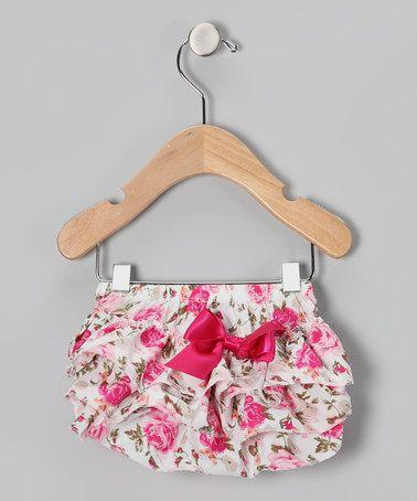 Hot Pink Ruffle Diaper Cover - Infant & Toddler by Zuzu Petals #zulily #zulilyfinds