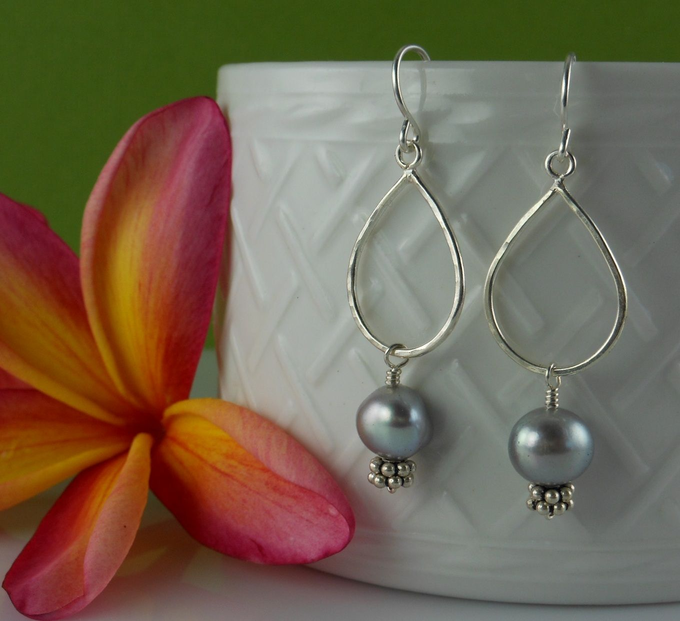 Pearls Bring a sense of inner strength, emotional peace.   925 Silver with Fresh water pearls $22.00