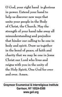 2018 week of prayer for christian unity prayer card opening prayers prayers unity prayer. Black Bedroom Furniture Sets. Home Design Ideas