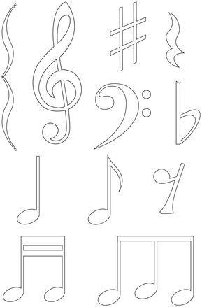 Notes De Musique Decoration Theme Musique Coloriage Musique Note De Musique
