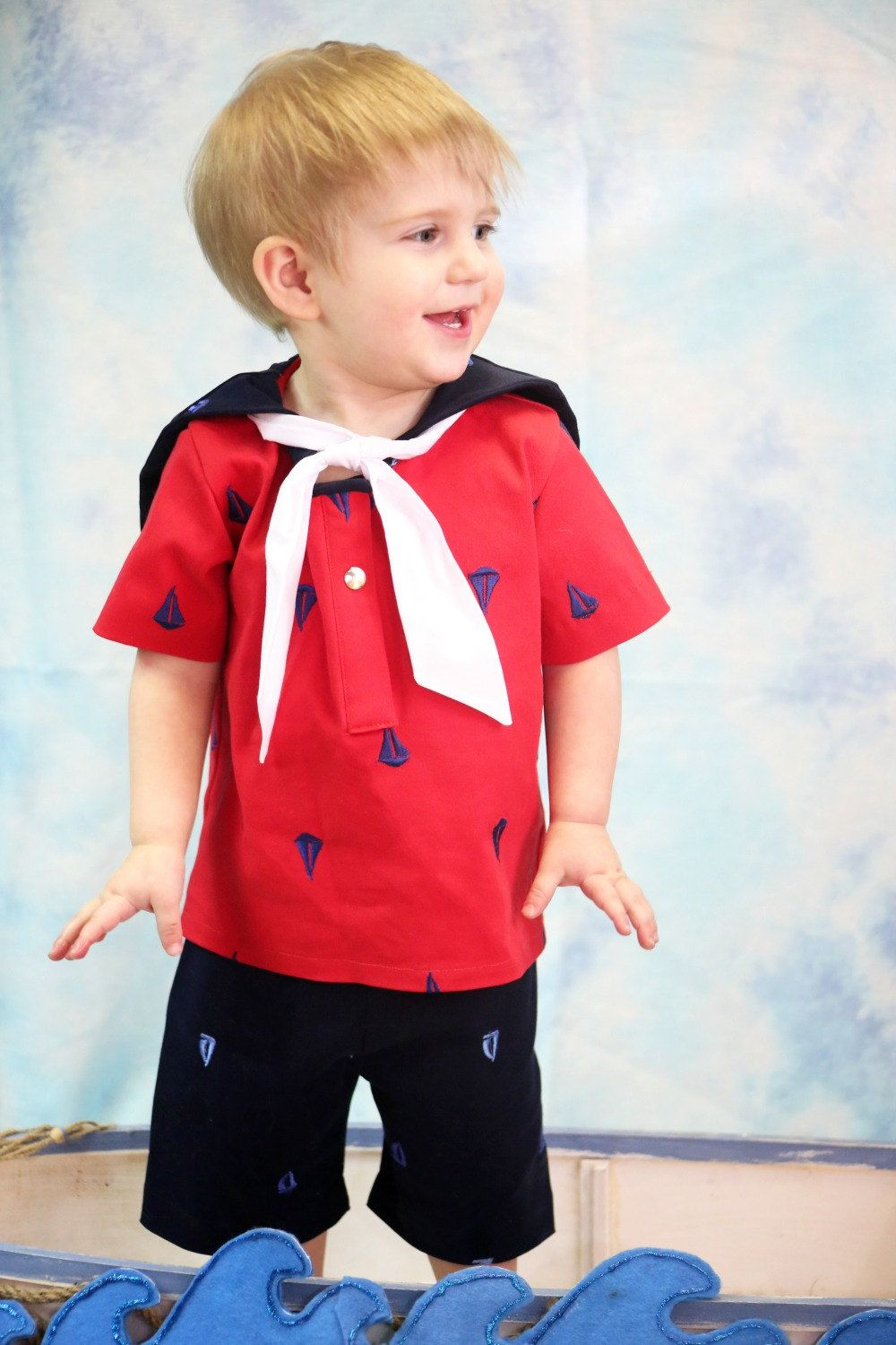 Baby Boy Sailor Outfit - Nautical Birthday - Cake Smash ...