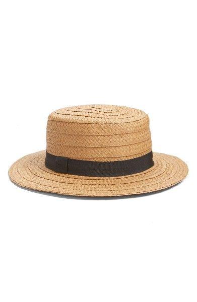 3071ffe1f51 Main Image - Hinge Straw Boater Hat