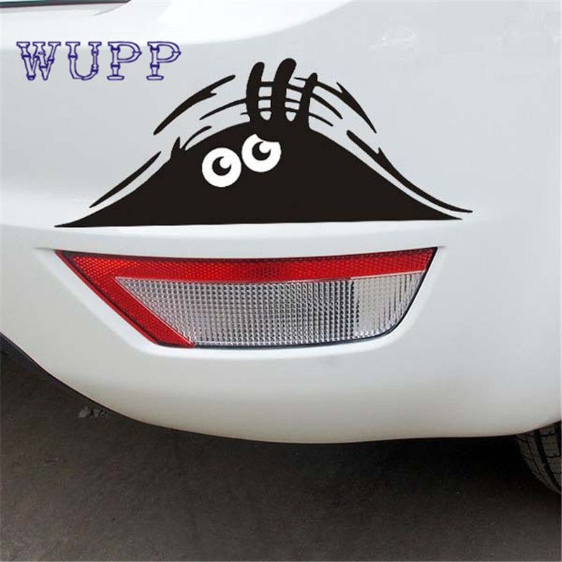 Hot Carstying PC Funny Car Sticker D Eyes Peeking Monster - Funny decal stickers for carssticker car window picture more detailed picture about funny car