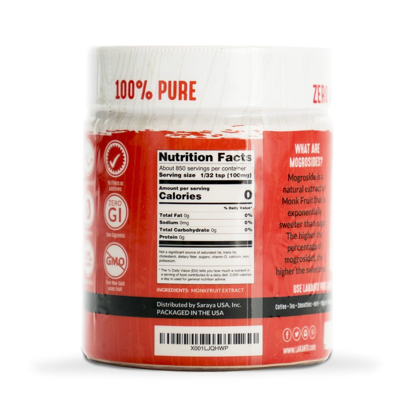 Pure Monkfruit 30 Extract Fruit Nutrition Facts Nutrition Facts Fruit