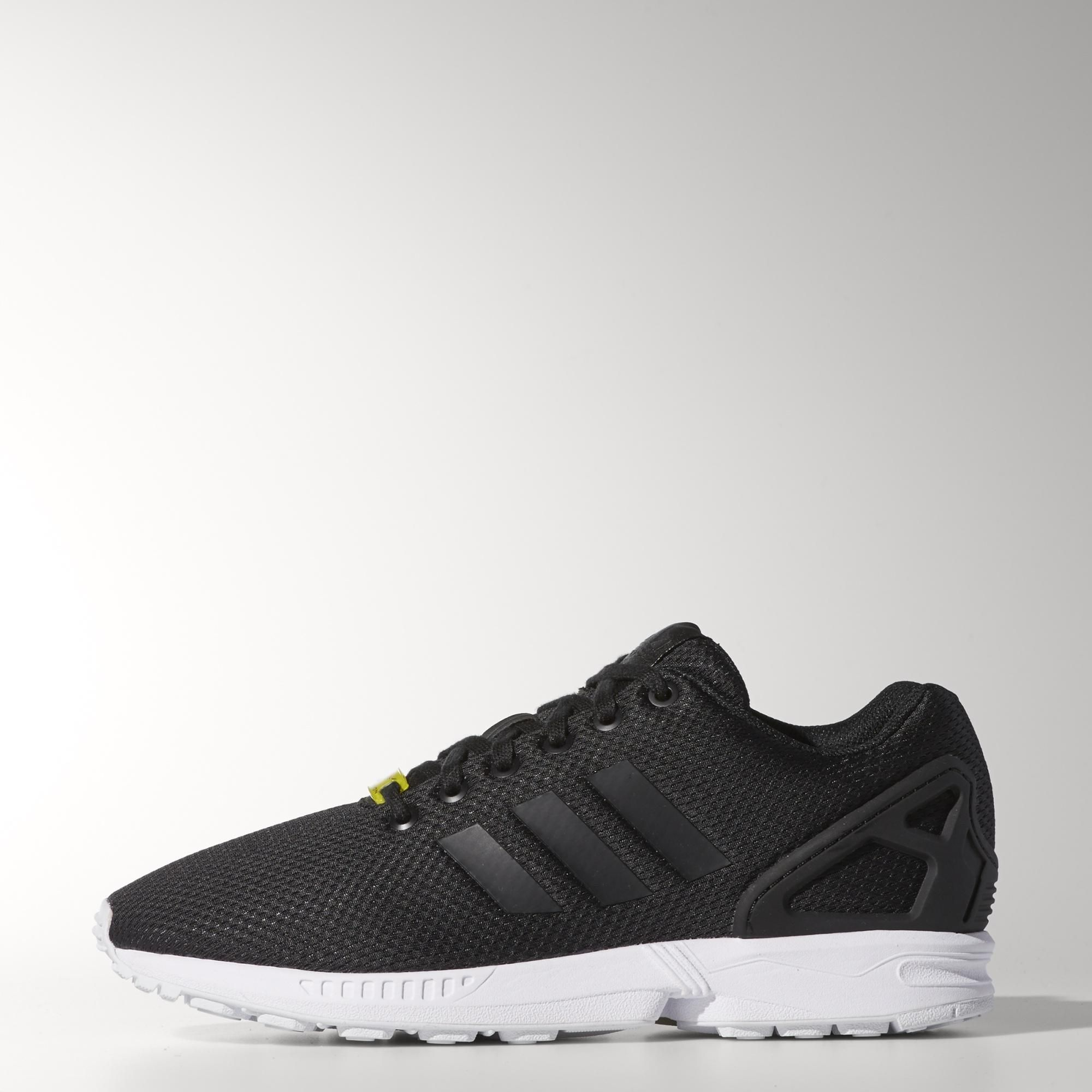 mens adidas white zx flux trainers nz