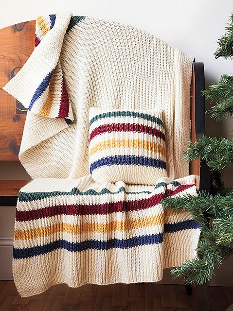 Photo of Christmas Stripes Blanket pattern by Violet LeBeaux