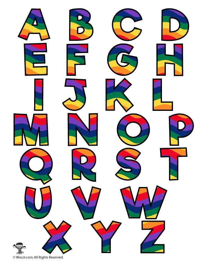 Agile image intended for colorful alphabet letters printable