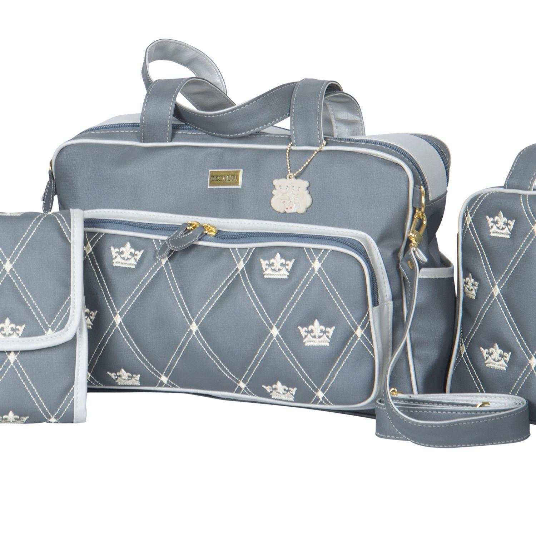d1fb68e87 Bolsa Maternidade Master Coronate Cinza | сумки | Baby, Baby list e ...