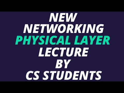 Physical Layer OSI Model YouTube Osi model, Computer