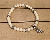 Alabama Roll Tide Elephant Bead Stack Bracelet