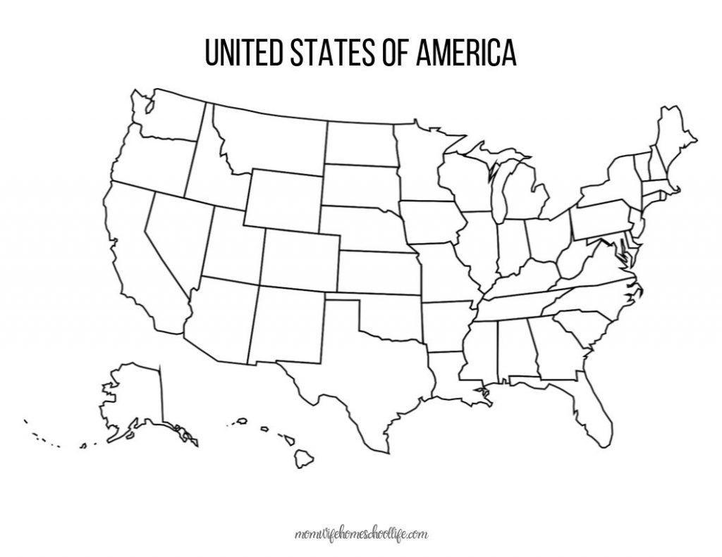 Blank United States Maps