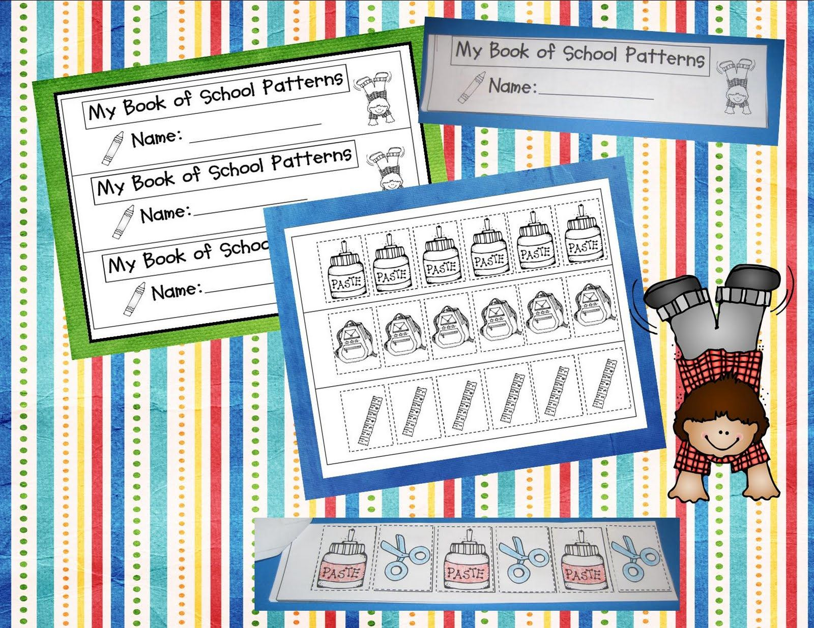 Here S A Booklet For Students To Create A Series Of School Themed Pattern Strips