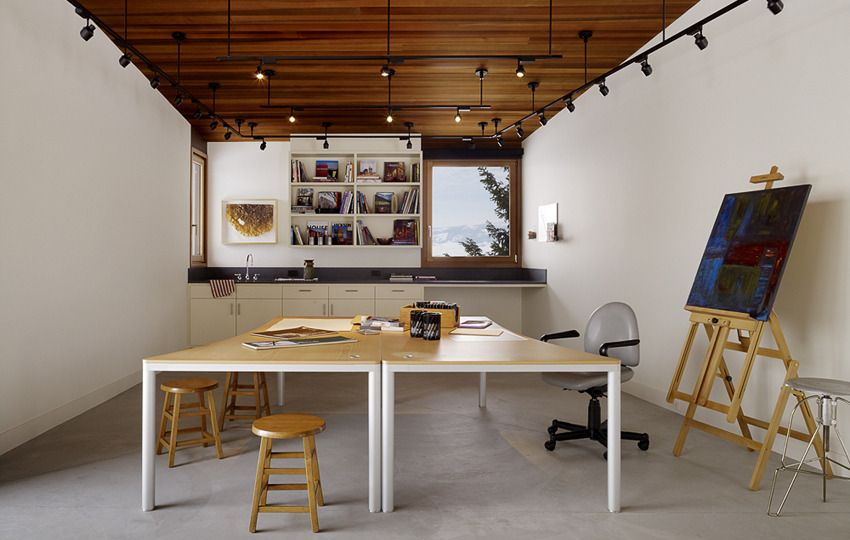 House And Artist Studio With Softly Curving Roofline Art