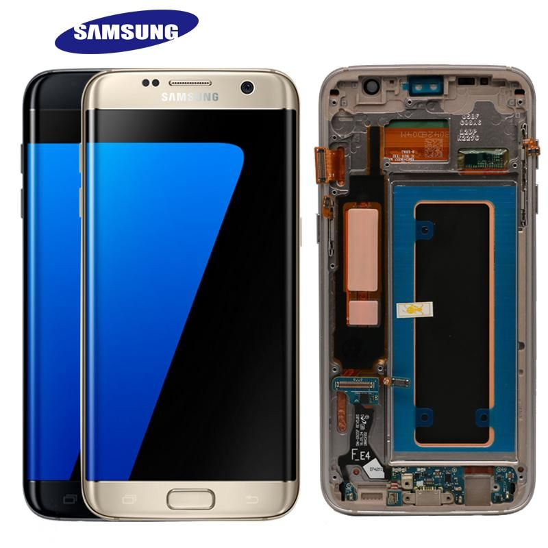 Original Samsung Galaxy S7 Edge Lcd Display Digitizer Touch Screen Batteries Screenprotector Temperedglass Startec Replecment Parts
