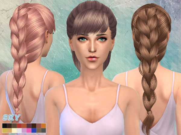 The Sims Resource: Big braid hairstyle 218 by Skysims | sims | Sims