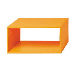 Mensole Ad Angolo Leroy Merlin.Leroy Merlin Mensola Kubic Rettangolare Arancione 70 X 35 Cm