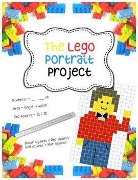 Lego-style Portrait Project - Fractions, Area, Perimeter, Art ...