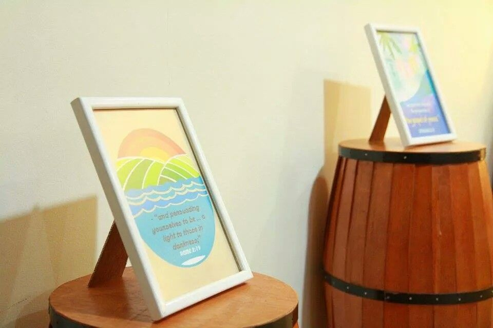 'Beachy' Quotes in Frames