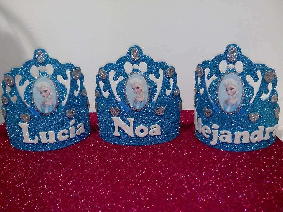 Coronas Cumpleanos Personalizadas Hechas A Mano Goma Eva Ninos