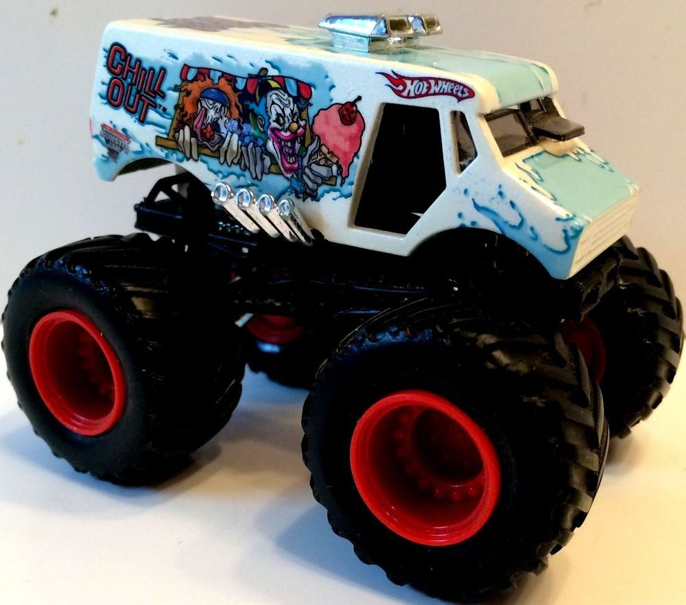 hot wheels monster jam chill out monster truck 1 64 scale die cast car htf euc hotwheels hot. Black Bedroom Furniture Sets. Home Design Ideas