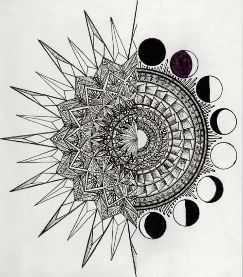 I'll Eat You Up, I Love You So Mandala sun tattoo, Moon