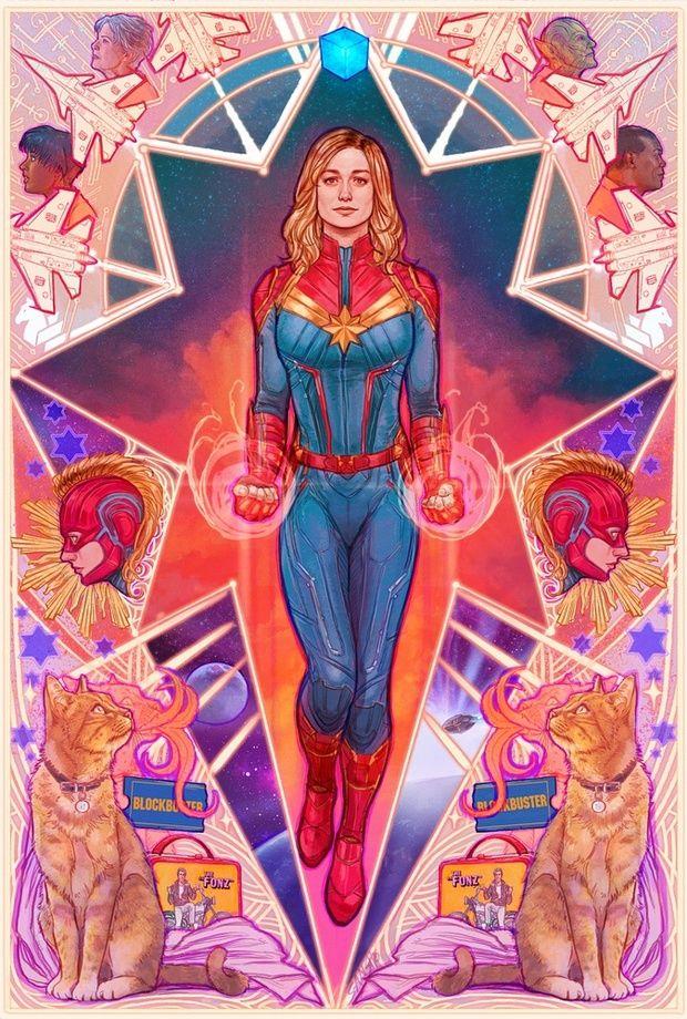 Captain Marvel, an art print by Mona Fuchs