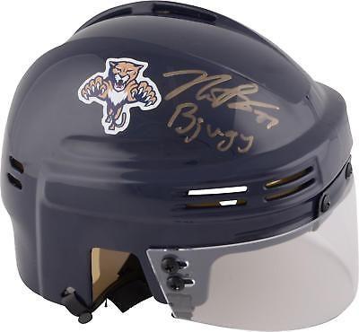 Nick Bjugstad Florida Panthers Signed Navy Mini Helmet with