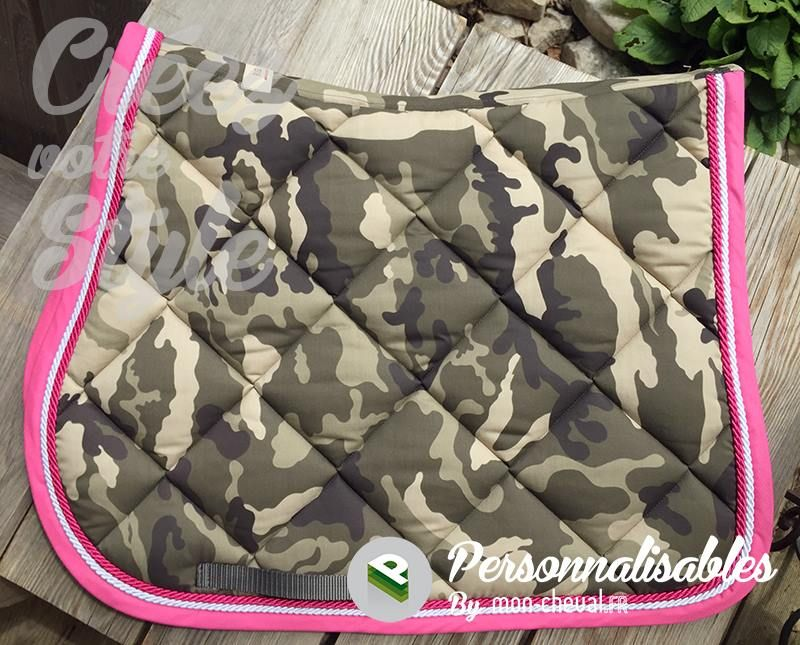 Tapis personnalis rg italy au look camouflage girly original rg mattes et paddock - Tapis paddock sport personnalisable ...