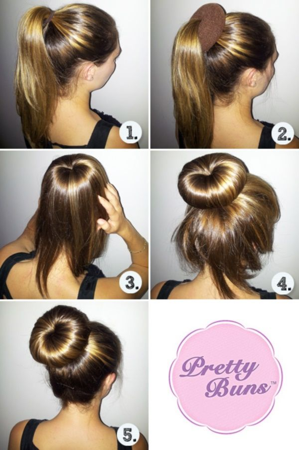 How To Make A Sock Bun Step By Step Tutorials Haar Brotchen Haar Styling Kurzes Haarknoten