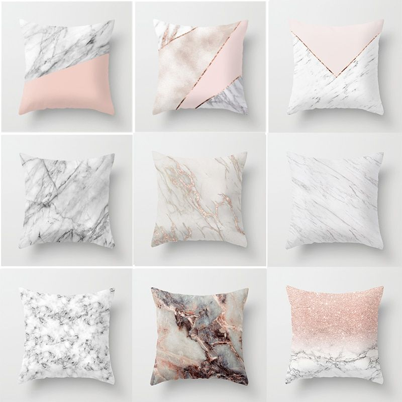 Geometric Cushion cover 45x45cm Marble Texture Throw Pillow Case Cushion Cover For Sofa Home Decor #marbletexture