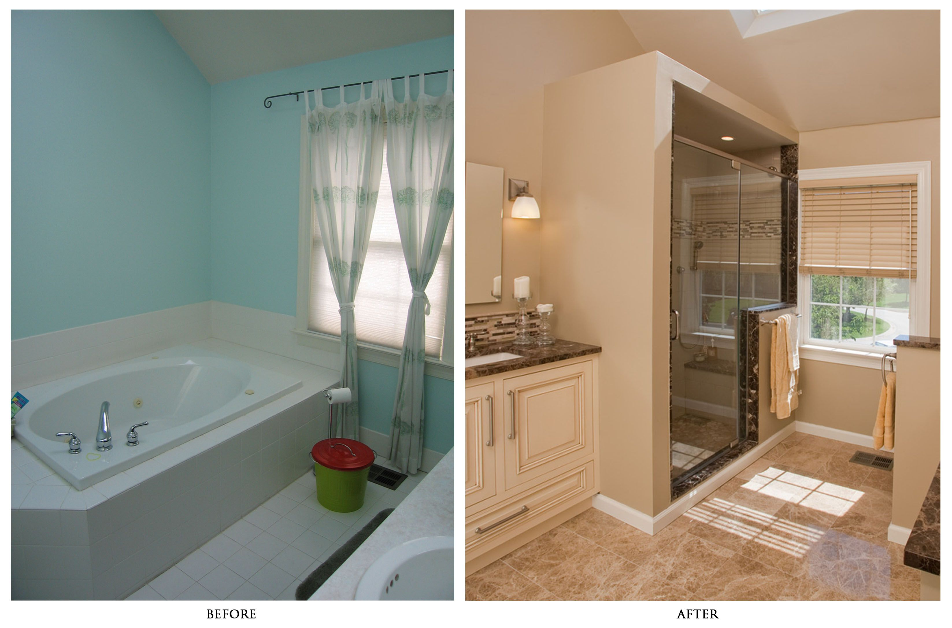 Small bathroom renovations before and after - Small Bathroom Remodels Pictures Before And After Home Decorations Remodeling A Mobile Home Bathroom