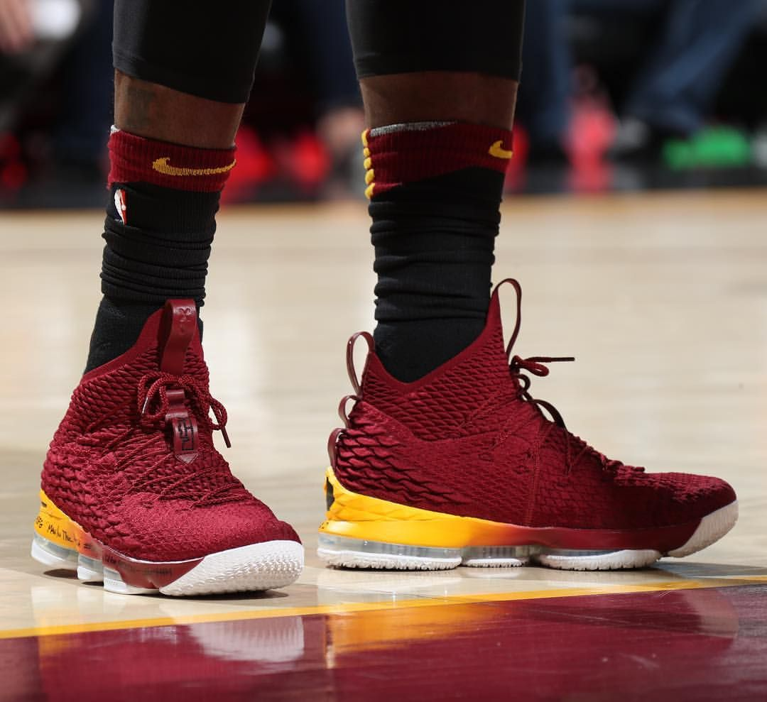 15fe539c577  KingJames with the Nike LeBron 15 PE for Game 7 against Indiana. That  gradient. 🔥