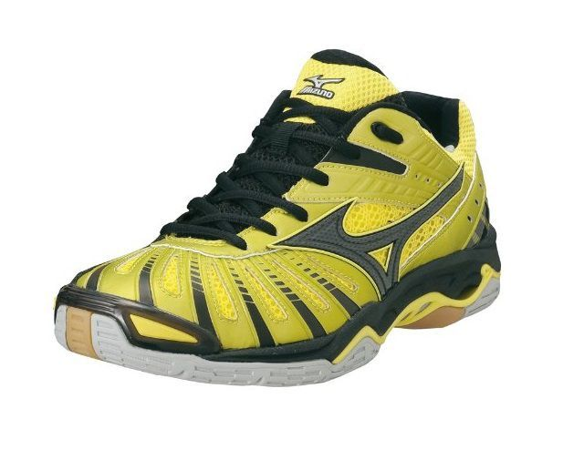 Mizuno Wave Stealth 2 Yellow Black Badminton Shoes Volleyball Shoes Court Shoes