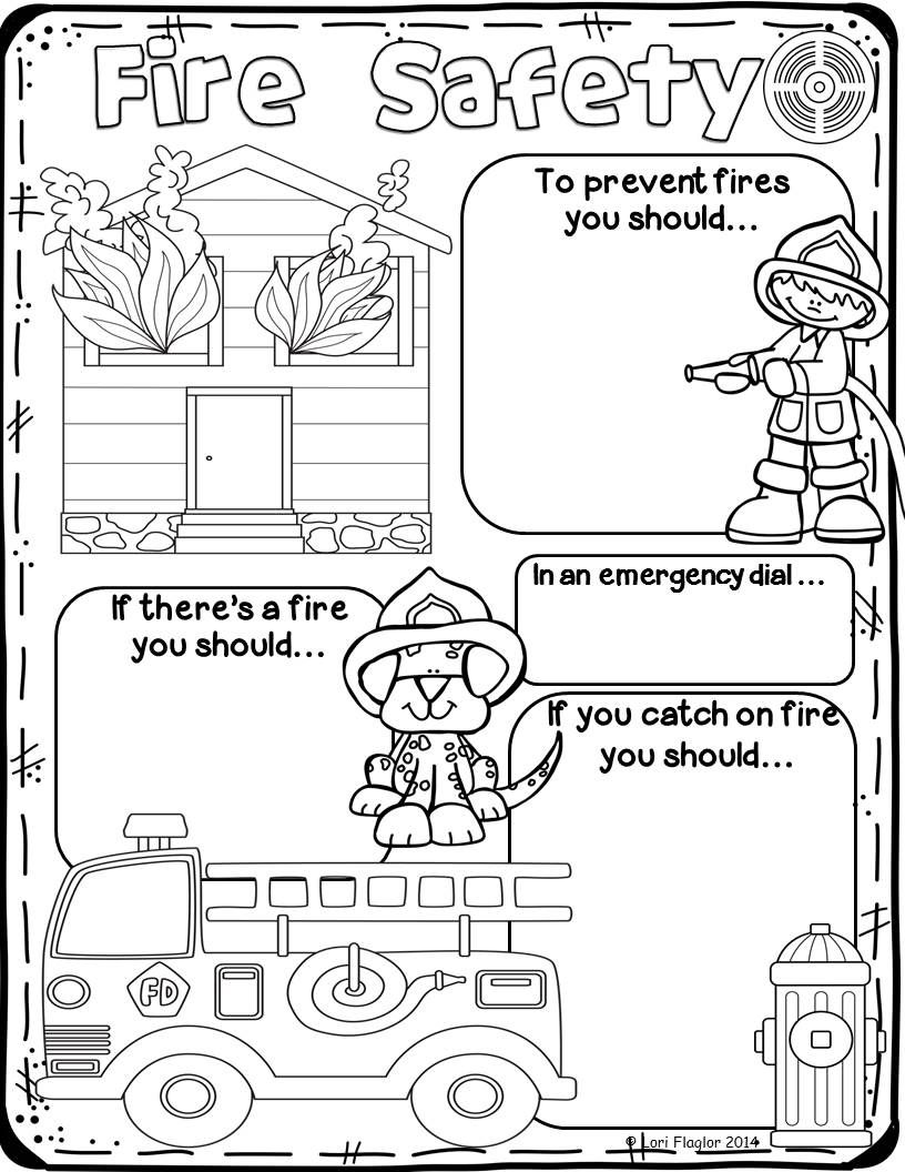 Fire safety rules coloring pages ~ Fire Safety | Fire Safety | Fire safety week, Fire safety ...