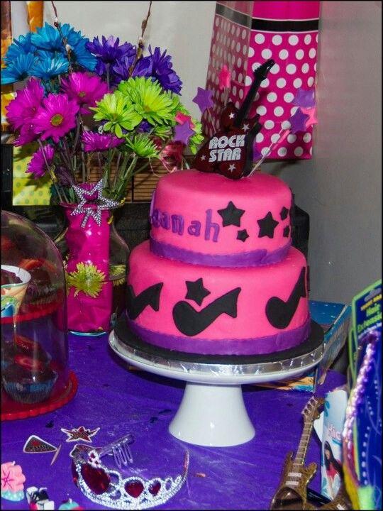 Rockstar Birthday Cake For Kids Pinterest Birthday Cakes