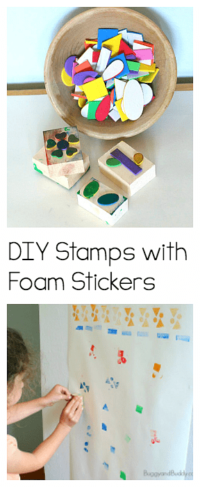 Diy Foam Stamps For Kids Exploration Center Buggy And Buddy Blog