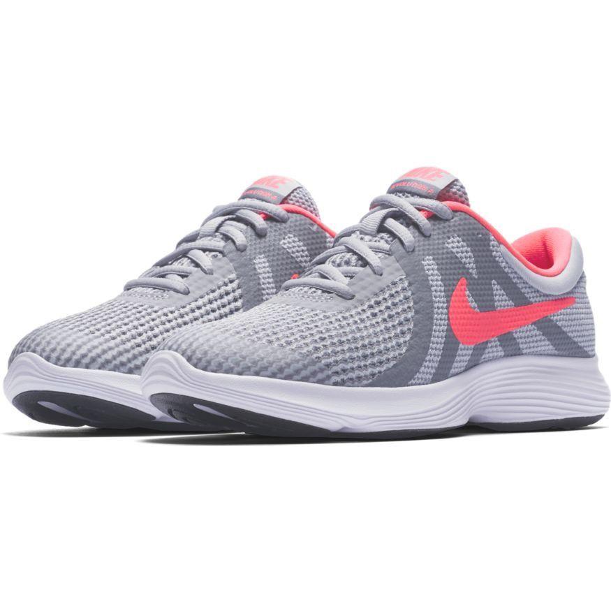 6cbe3d730bd95 eBay  Sponsored Nike REVOLUTION 4 GS Girls Grey Pink 943306-003 Running  Training Shoes