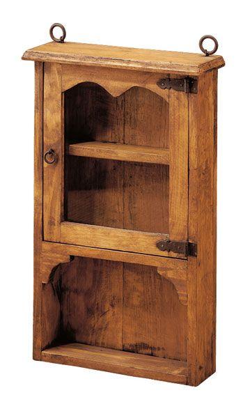 Estanteria rustica auxiliar en 2018 muebles rusticos for Diseno de muebles rusticos de madera