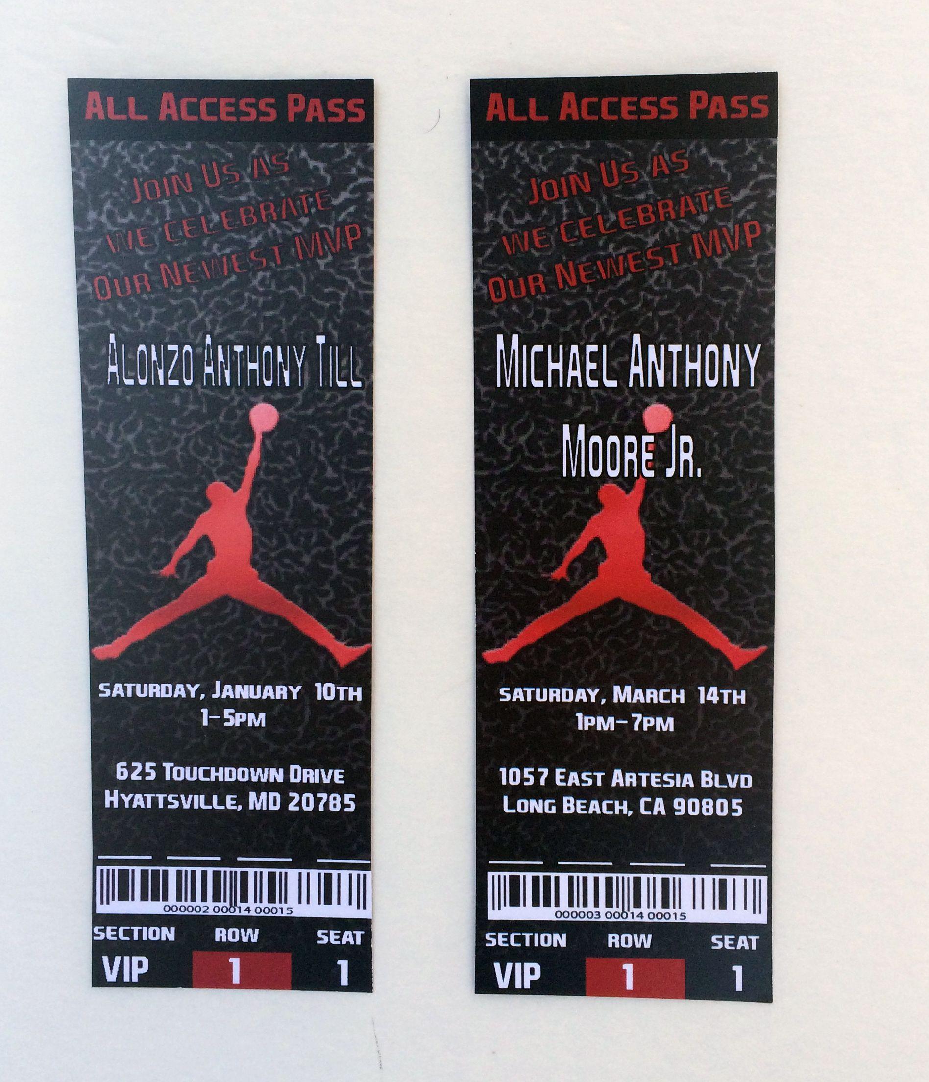 Jordan Invites – Michael Jordan Birthday Invitations
