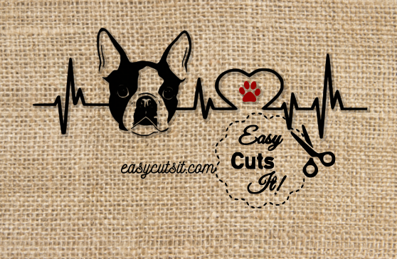 Download Boston Terrier Heartbeat ~ SVG, DXF, EPS, PDF plus ...