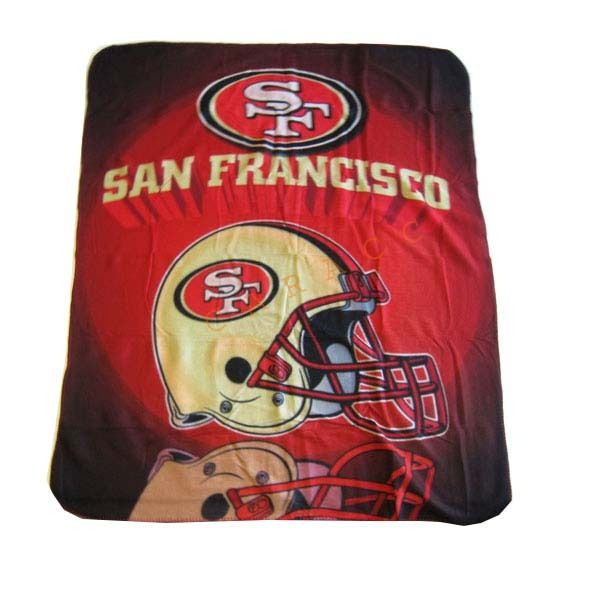 Brand New NFL San Francisco 40ers Football Team Fleece Throw Blanket Simple Team Throw Blankets