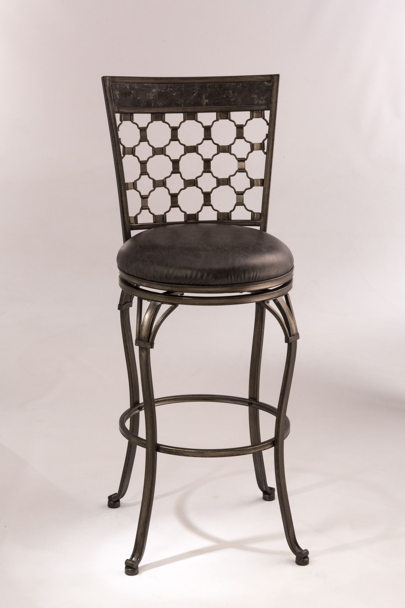 "Brescello 30"" Swivel Bar Stool with Cushion"
