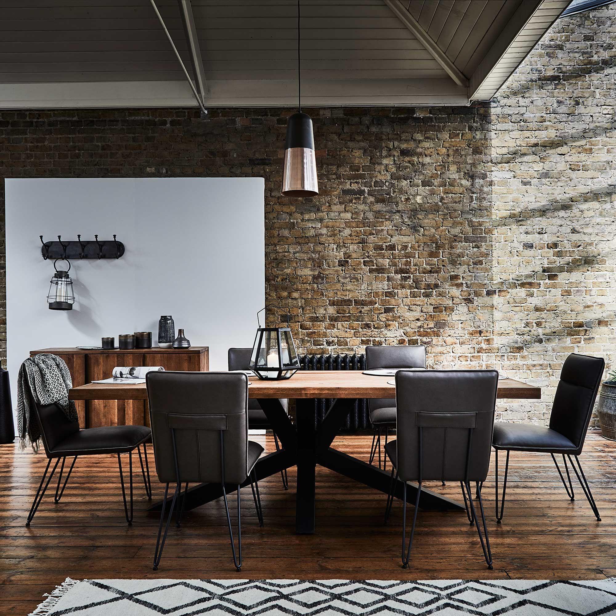 Navarro Star Dark Oak Dining Table Barker Stonehouse Dining Room Style Barker And Stonehouse Oak Dining Table