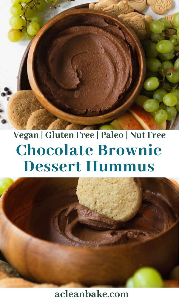 Dessert Hummus: Chocolate Brownie Batter Dip | A Clean Bake