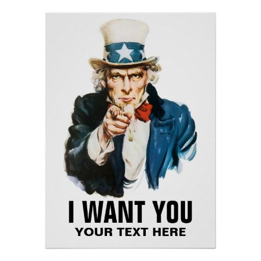 Uncle Sam I Want You Vintage Poster Zazzle Com Army Poster Propaganda Posters Recruitment Poster